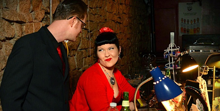 Shop Around: Atlanta's Swankiest Retro Couple Jezebel Blue and Nathaniel Self Will Dress You Up 2the9s For the Holidays