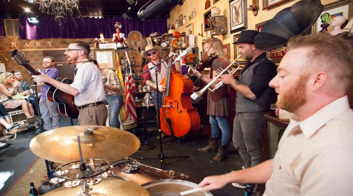"""Kool Kat of the Week: Caleb Warren and the Perfect Gentlemen Wax Nostalgic with a Pickin' Pandemonium While Slingin' Their Modern Brand of Rowdy Old-Time """"Acoustic Brass 'n' Brew-Grass"""""""